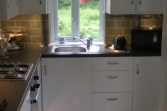 Kitchen Tiling , Units , wiring and plumbing