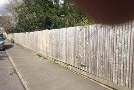 New Post and Fence Re Erected