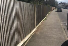 New Posts and fence re-erected